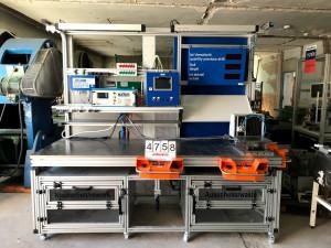 Tesztelőállomás  - termékek szivárgás tesztelésére, méret ellenőrzésre és gravírozásra